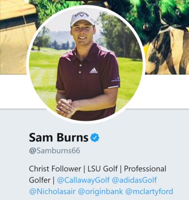 Sam burns twitter bio